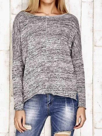 Bluzka oversize melanżowa szara