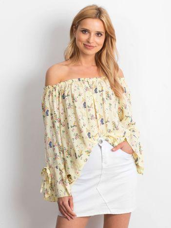 Bluzka żółta w drobne kwiatowe wzory
