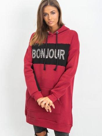 Bordowa bluza Bonjour