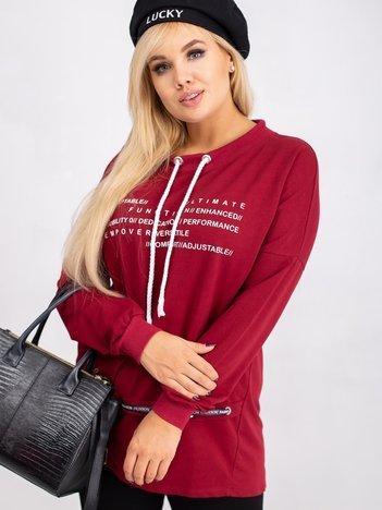 Bordowa bluza plus size Aspiration