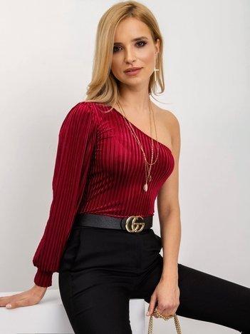 Bordowa bluzka Alisha