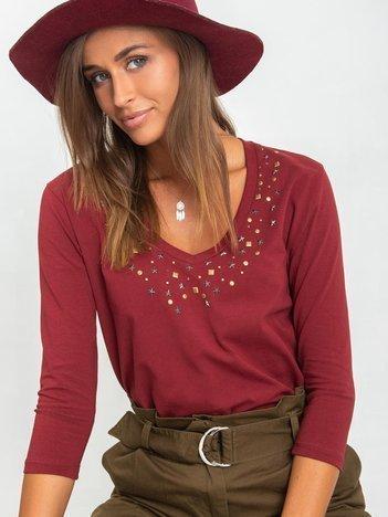 Bordowa bluzka Scarlett