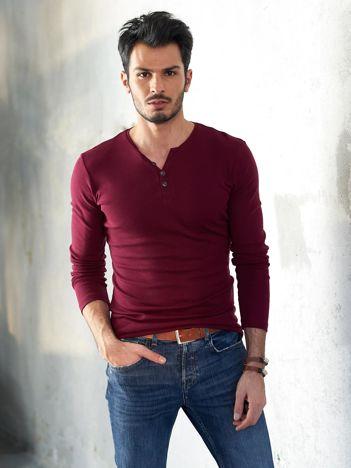 Bordowa bluzka męska