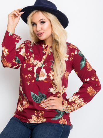 Bordowa bluzka plus size Spring