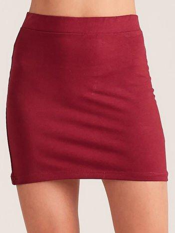 Bordowa dresowa spódnica mini