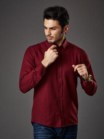 Bordowa koszula męska regular fit