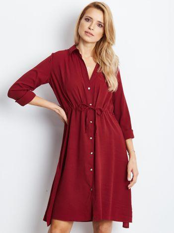Bordowa sukienka Ambrosia