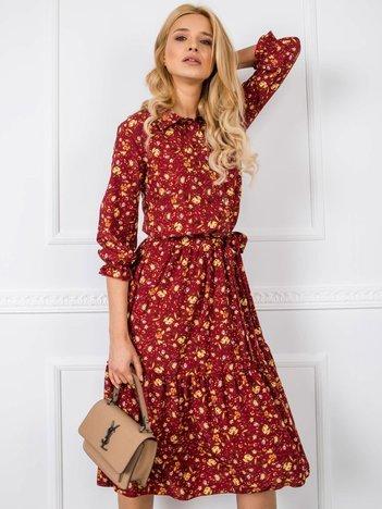 Bordowa sukienka Beau