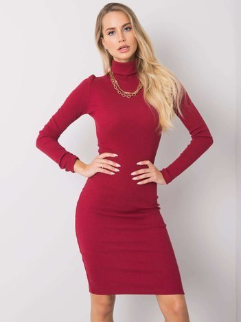 Bordowa sukienka Livia RUE PARIS