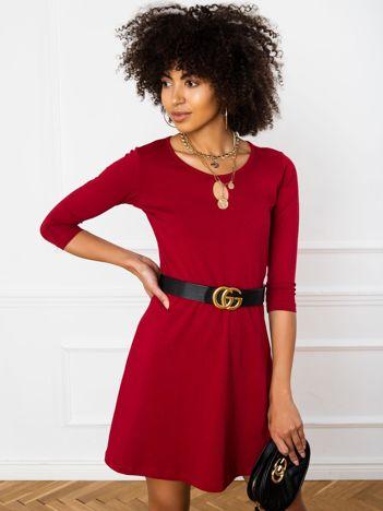 Bordowa sukienka Savage