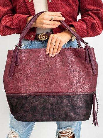 Bordowa torba shopper