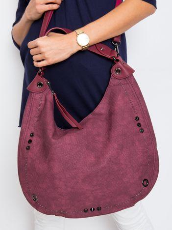 Bordowa torebka hobo