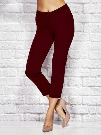 Bordowe spodnie cygaretki