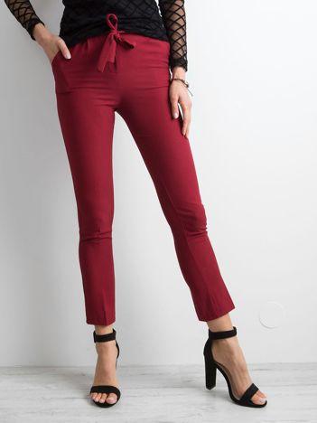 f8b17c48167d Bordowe spodnie z wiązaniem