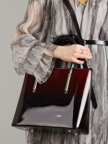 Bordowo-czarna torba ombre