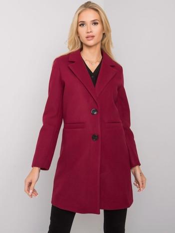 Bordowy płaszcz Dalida