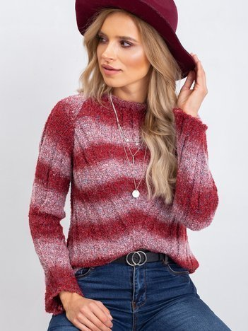 Bordowy sweter West