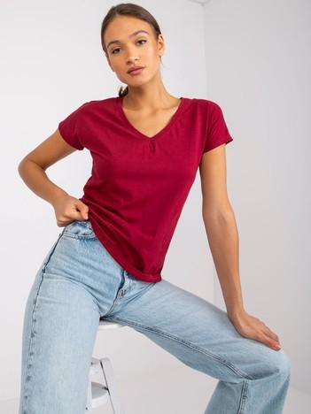 Bordowy t-shirt Emory