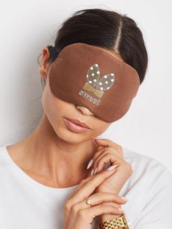 Brązowa maska na oczy do spania