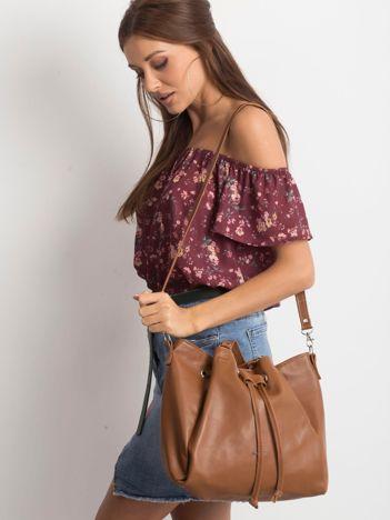 Brązowa miękka torba damska na ramię
