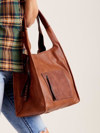 Brązowa miękka torba na ramię
