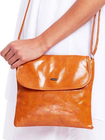 Brązowa miękka torebka ze skóry ekologicznej