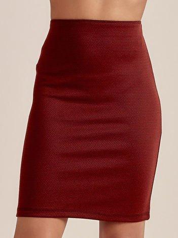 Brązowa spódnica w delikatny wzór