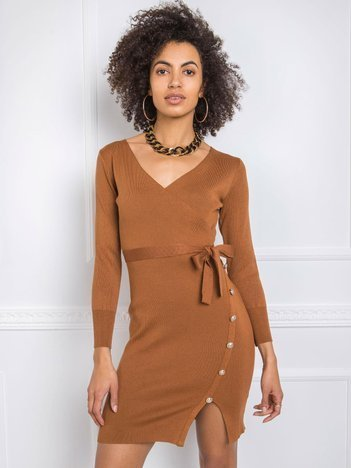 Brązowa sukienka Ezra