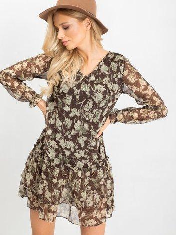 Brązowa sukienka Grand