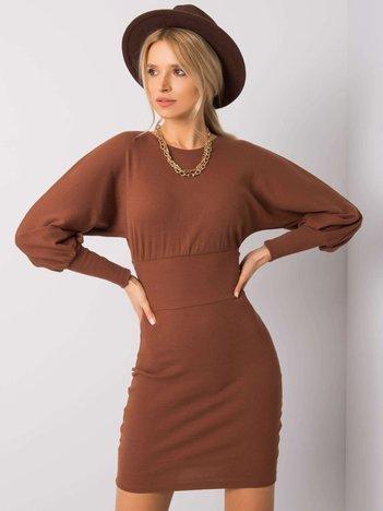 Brązowa sukienka Leticia RUE PARIS