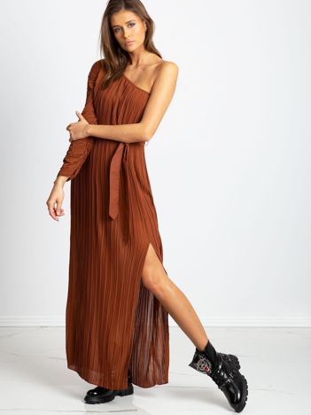 Brązowa sukienka Try
