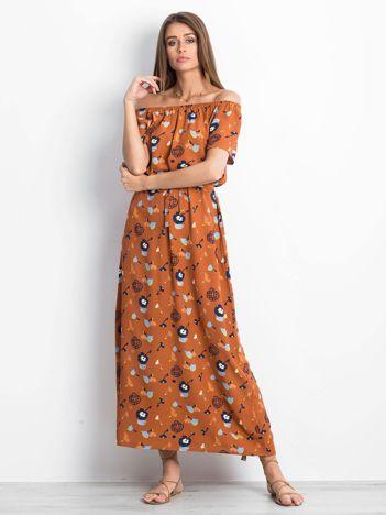 Brązowa sukienka Voice