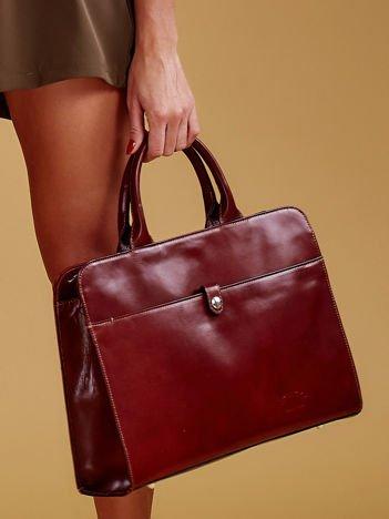 Brązowa torba damska ze skóry w miejskim stylu