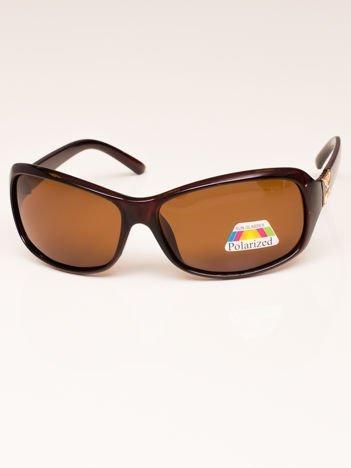 Brązowe Damskie Okulary Przeciwsłoneczne POLARYZACYJNE
