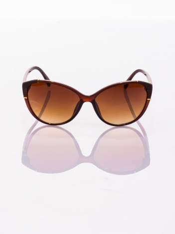 Brązowe KOCIE OCZY Okulary przeciwsłoneczne