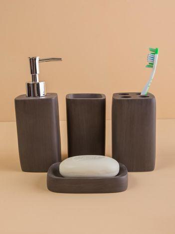 Brązowe akcesoria łazienkowe