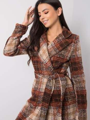Brązowo-beżowy płaszcz Becky