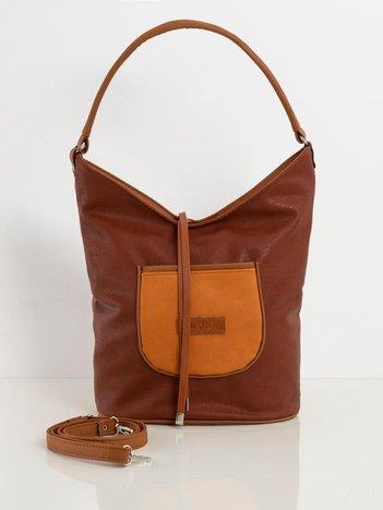 Brązowo-camelowa torba w stylu hobo