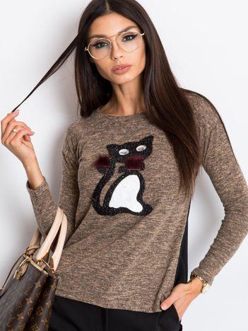 Brązowo-czarna bluzka Kimmy
