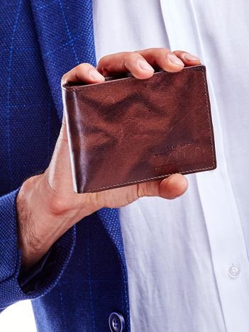 Brązowy cieniowany portfel dla mężczyzny