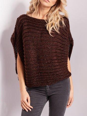 Brązowy sweter kamizelka