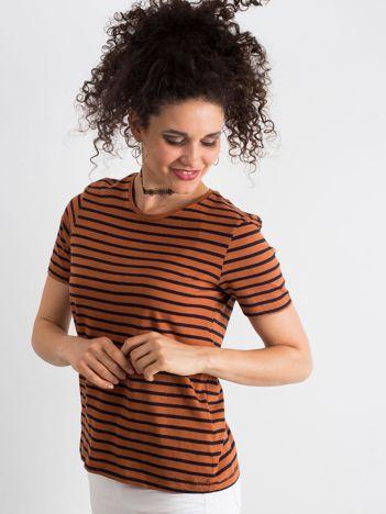 Brązowy t-shirt Pursuit