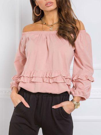 Brudnoróżowa bluzka Carrie