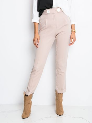 Brudnoróżowe spodnie Sprinkle