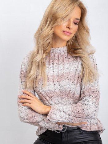 Brudnoróżowy sweter Melanie