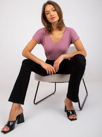 Brudnoróżowy t-shirt Emory