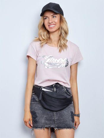 Brudnoróżowy t-shirt Lifestyle