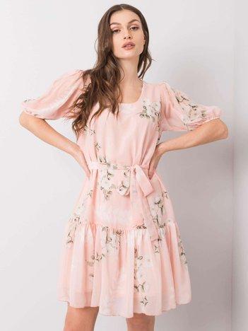 Brzoskwiniowa sukienka Emily