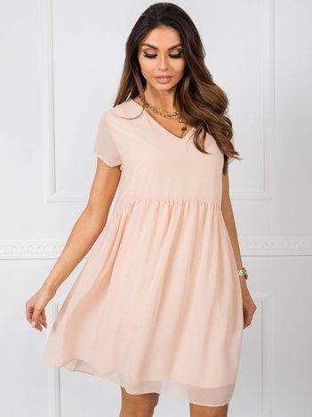 Brzoskwiniowa sukienka Sarah RUE PARIS
