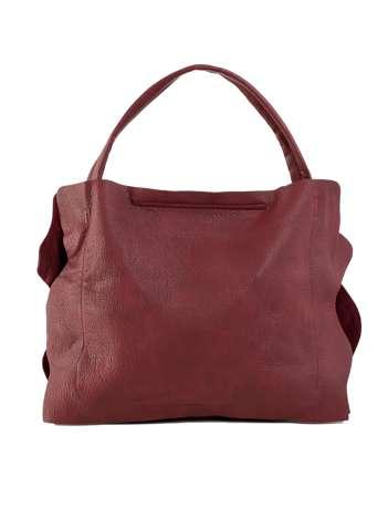 Burgundowa miękka torba z ekoskóry